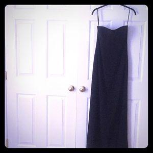 Bob Mackie black floor length dress